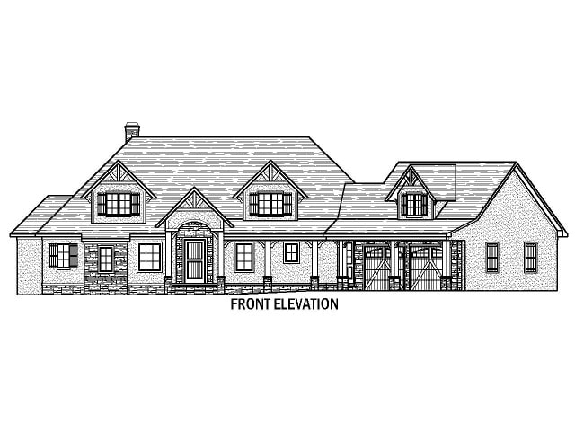 Terrace view for Lake keowee house plans